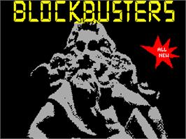 Title screen of Blockbusters on the Sinclair ZX Spectrum.