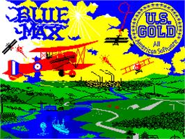 Title screen of Blue Max on the Sinclair ZX Spectrum.