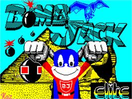 Title screen of Bomb Jack on the Sinclair ZX Spectrum.