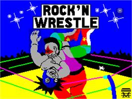 Title screen of Bop'N Wrestle on the Sinclair ZX Spectrum.