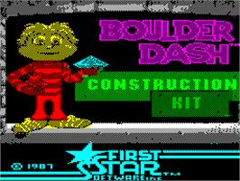 Title screen of Boulder Dash Construction Kit on the Sinclair ZX Spectrum.