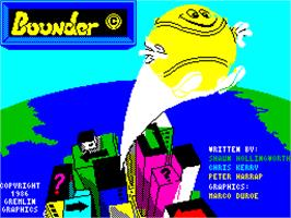 Title screen of Bounder on the Sinclair ZX Spectrum.