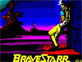 Title screen of BraveStarr on the Sinclair ZX Spectrum.