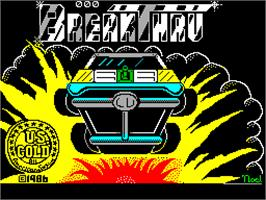 Title screen of Breakthru on the Sinclair ZX Spectrum.