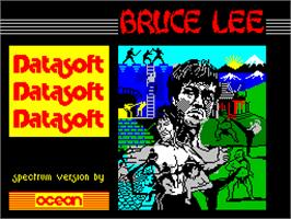 Title screen of Bruce Lee on the Sinclair ZX Spectrum.