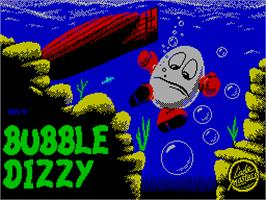 Title screen of Bubble Dizzy on the Sinclair ZX Spectrum.