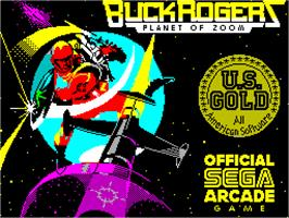 Title screen of Buck Rogers: Planet of Zoom on the Sinclair ZX Spectrum.