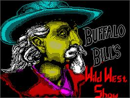 Title screen of Buffalo Bill's Wild West Show on the Sinclair ZX Spectrum.