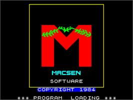 Title screen of Bullseye on the Sinclair ZX Spectrum.