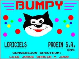 Title screen of Bumpy on the Sinclair ZX Spectrum.