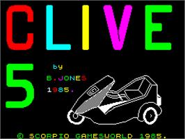 Title screen of C5 Clive on the Sinclair ZX Spectrum.