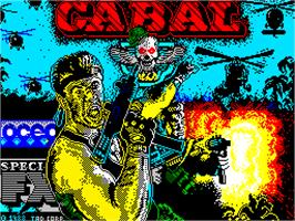 Title screen of Cabal on the Sinclair ZX Spectrum.