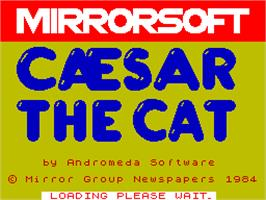 Title screen of Caesar the Cat on the Sinclair ZX Spectrum.