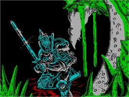 Title screen of Camelot Warriors on the Sinclair ZX Spectrum.