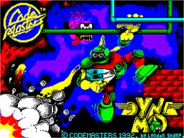 Title screen of Captain Dynamo on the Sinclair ZX Spectrum.