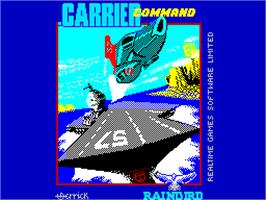 Title screen of Carrier Command on the Sinclair ZX Spectrum.