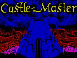 Title screen of Castle Master on the Sinclair ZX Spectrum.