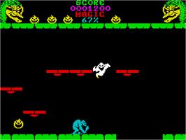 Title screen of Cauldron II: The Pumpkin Strikes Back on the Sinclair ZX Spectrum.