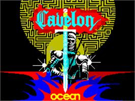 Title screen of Cavelon on the Sinclair ZX Spectrum.