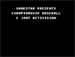 Title screen of Championship Baseball on the Sinclair ZX Spectrum.