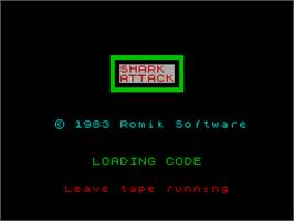 Title screen of Chart Attack on the Sinclair ZX Spectrum.