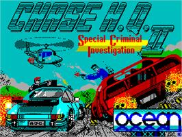 Title screen of Chase H.Q. II: Special Criminal Investigation on the Sinclair ZX Spectrum.