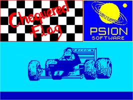 Title screen of Chequered Flag on the Sinclair ZX Spectrum.