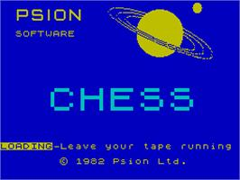 Title screen of Chess on the Sinclair ZX Spectrum.
