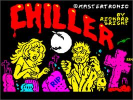 Title screen of Chiller on the Sinclair ZX Spectrum.