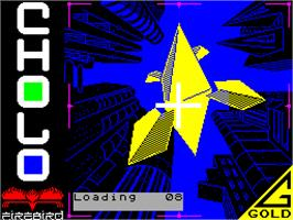Title screen of Cholo on the Sinclair ZX Spectrum.