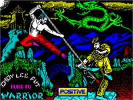 Title screen of Choy-Lee-Fut Kung-Fu Warrior on the Sinclair ZX Spectrum.