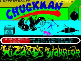 Title screen of Chuckman on the Sinclair ZX Spectrum.