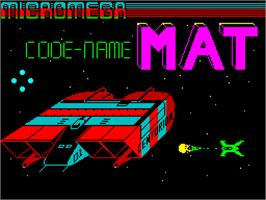 Title screen of Codename: MAT on the Sinclair ZX Spectrum.