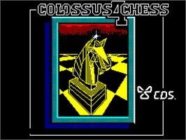 Title screen of Colossus 4 Chess on the Sinclair ZX Spectrum.