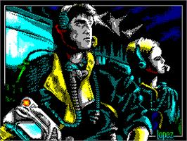 Title screen of Comando Tracer on the Sinclair ZX Spectrum.