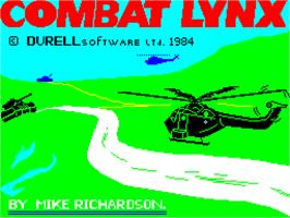 Title screen of Combat Lynx on the Sinclair ZX Spectrum.