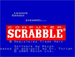 Title screen of Computer Scrabble on the Sinclair ZX Spectrum.