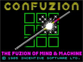 Title screen of Confuzion on the Sinclair ZX Spectrum.