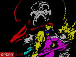 Title screen of Corsarios on the Sinclair ZX Spectrum.