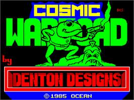 Title screen of Cosmic Wartoad on the Sinclair ZX Spectrum.
