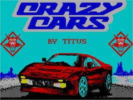 Title screen of Crazy Cars 2 on the Sinclair ZX Spectrum.