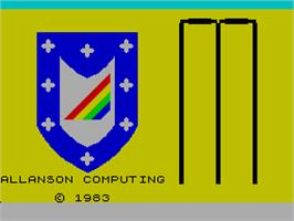 Title screen of Cricket Captain on the Sinclair ZX Spectrum.