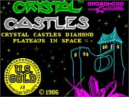 Title screen of Crystal Castles on the Sinclair ZX Spectrum.
