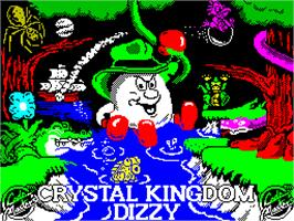 Title screen of Crystal Kingdom Dizzy on the Sinclair ZX Spectrum.