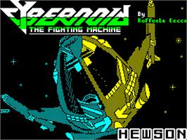Title screen of Cybernoid: The Fighting Machine on the Sinclair ZX Spectrum.