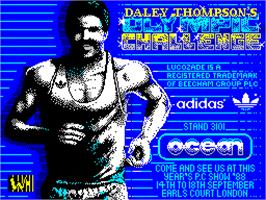 Title screen of Daley Thompson's Olympic Challenge on the Sinclair ZX Spectrum.