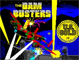 Title screen of Dam Busters on the Sinclair ZX Spectrum.