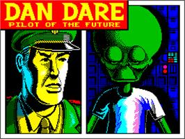 Title screen of Dan Dare: Pilot of the Future on the Sinclair ZX Spectrum.