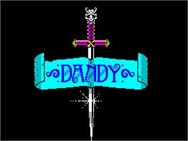 Title screen of Dandy on the Sinclair ZX Spectrum.