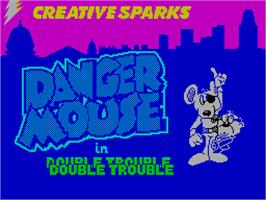 Title screen of Danger Mouse in Double Trouble on the Sinclair ZX Spectrum.